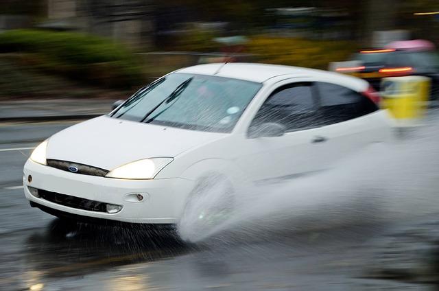 auto aquaplaning