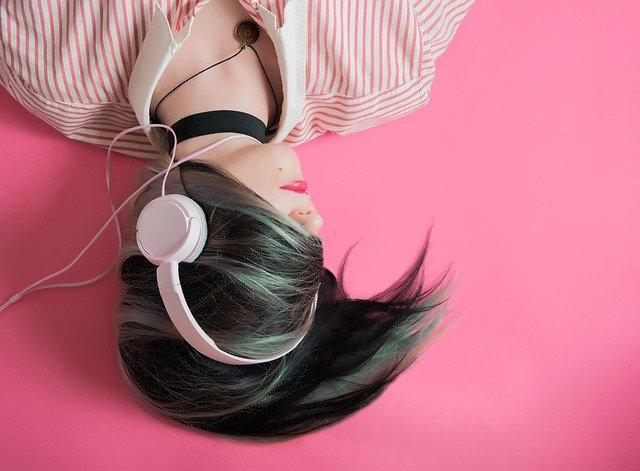 dívka, hudba